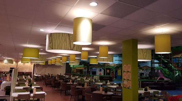 Food court in playground in Leos Borlänge / Sweden